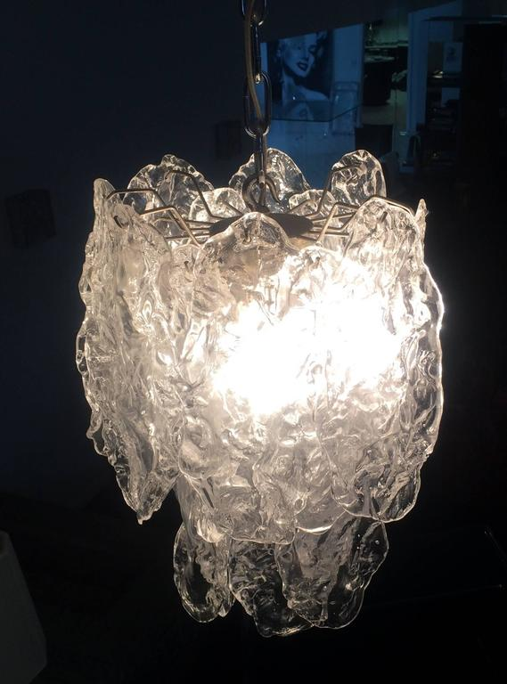 Murano Glass Chandelier by Carlo Nason for Mazzega 3