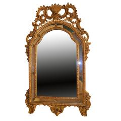 Roccoco Venetian Style Giltwood and Gesso Mirror