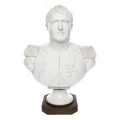 Sevres Porcelain Bust of Napoleon Bonaparte on Bronze Base with Incised Mark