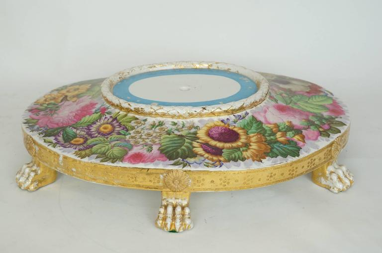 Russian of french painted porcelain table centerpiece with for Dining table centerpieces for sale