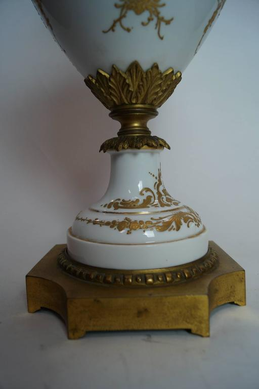19th Century Austrian Bronze-Mounted Royal Vienna Hand-Painted Vase For Sale 3