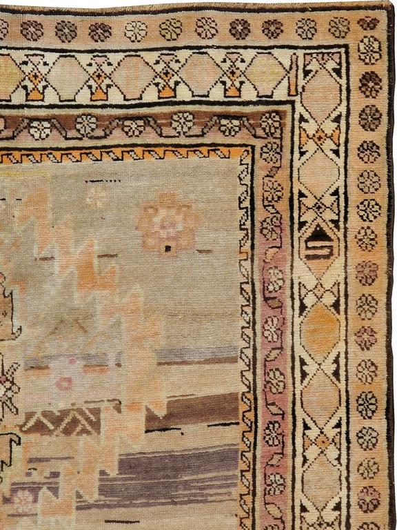 Kazak Antique Russian Karabagh Rug For Sale