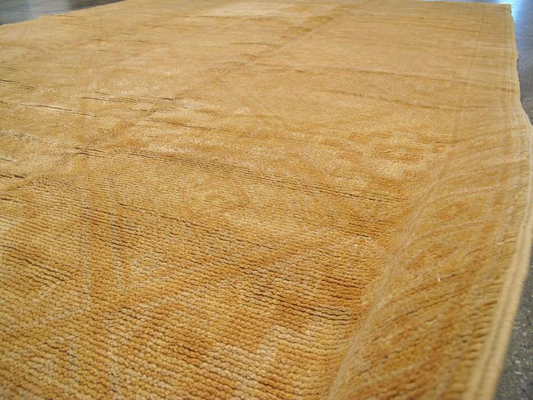 Hand-Knotted Vintage Spanish Cuenca Carpet For Sale