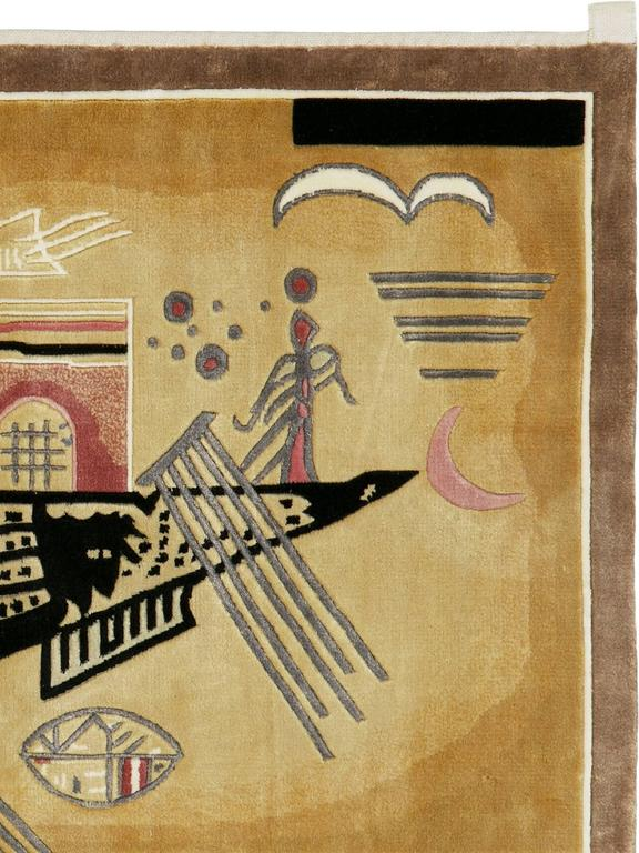 Turkish Modern Wall Hanging Rug after Wassily Kandinsky For Sale