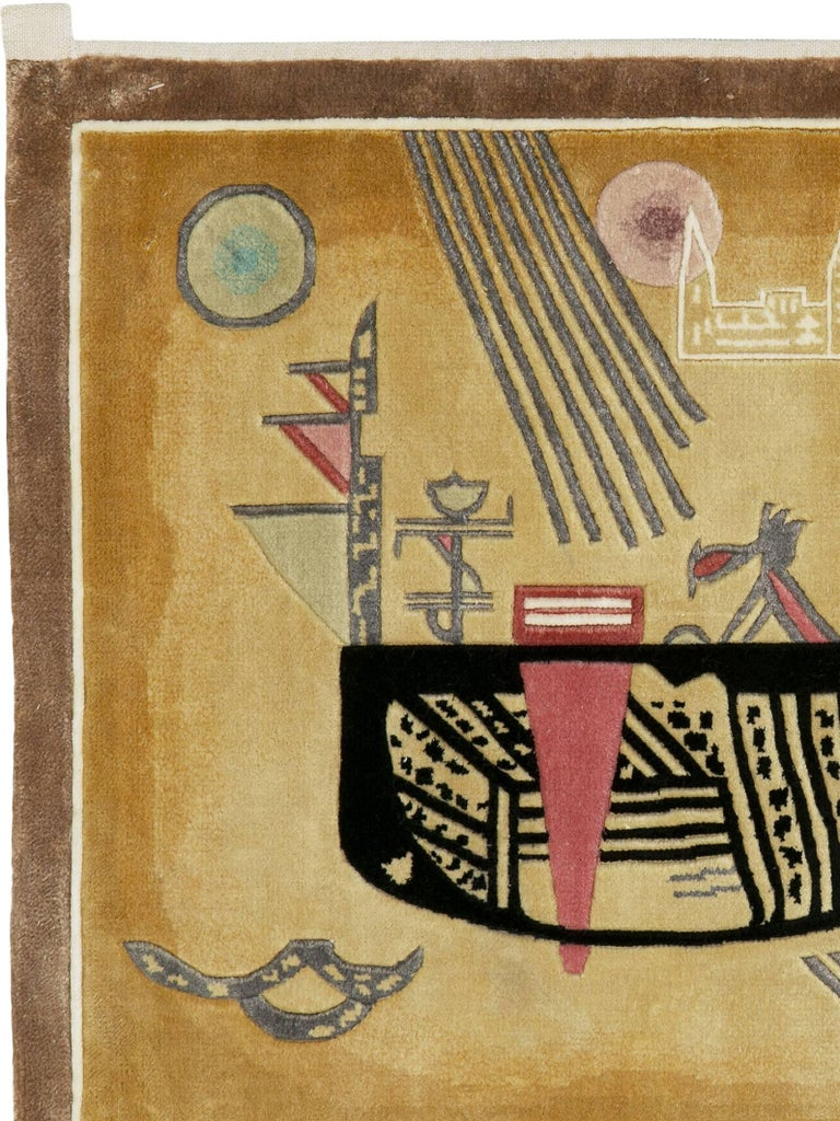 Modern Wall Hanging Rug after Wassily Kandinsky 3