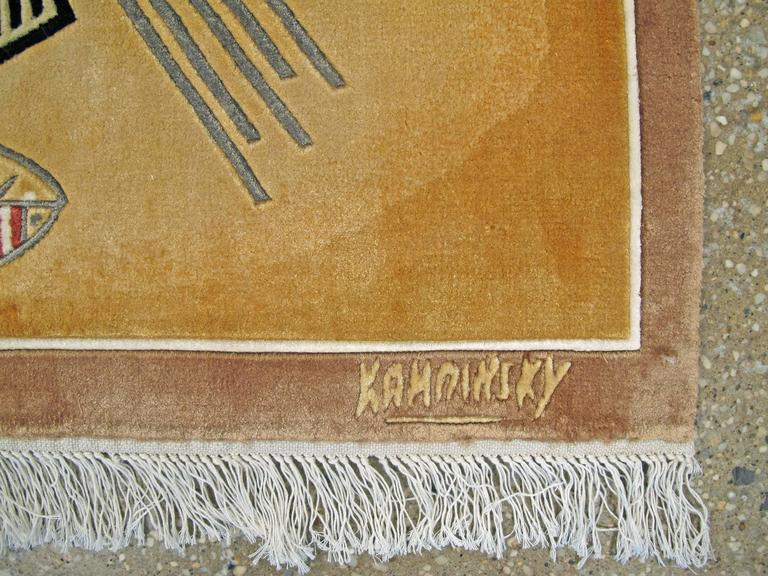 Silk Modern Wall Hanging Rug after Wassily Kandinsky For Sale