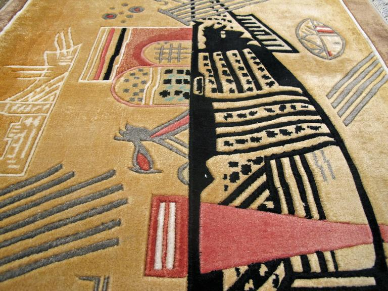 Modern Wall Hanging Rug after Wassily Kandinsky In Excellent Condition For Sale In New York, NY