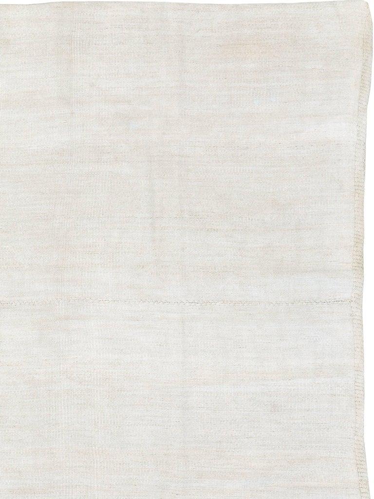 Hand-Woven Vintage Turkish Flat-Weave Carpet For Sale