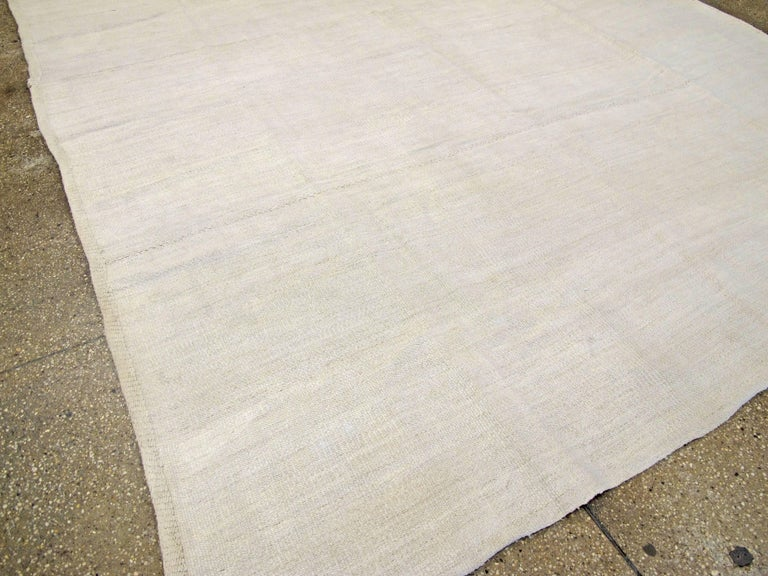 20th Century Vintage Turkish Flat-Weave Carpet For Sale