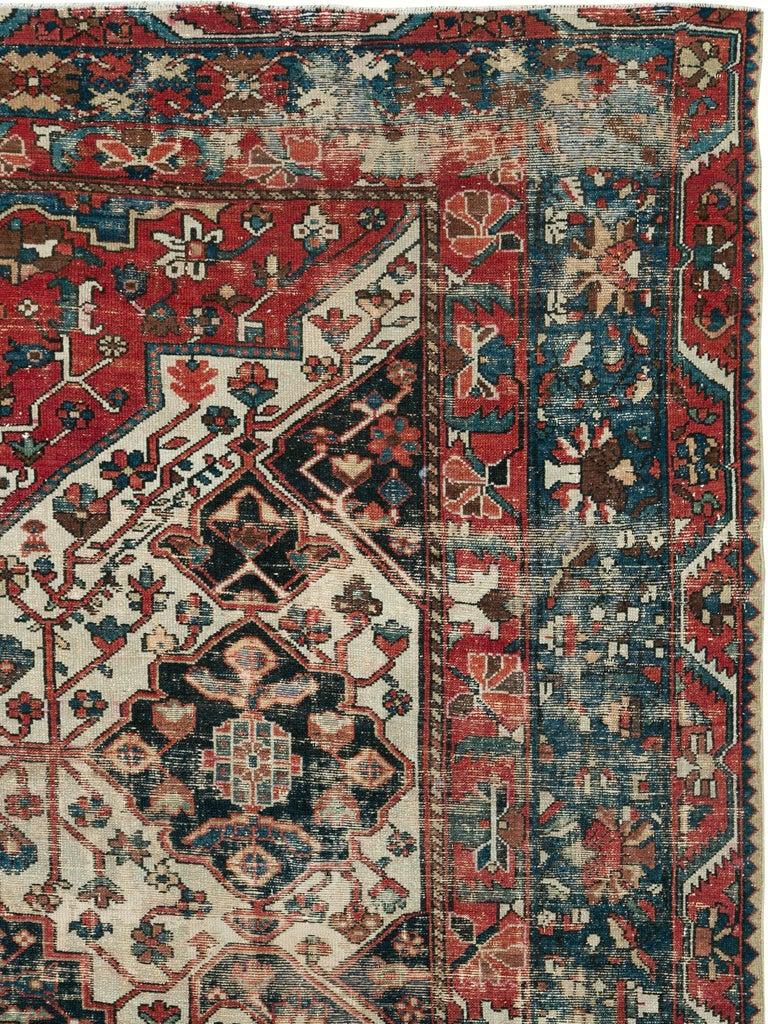 Tribal Antique Persian Bakhtiari Rug For Sale