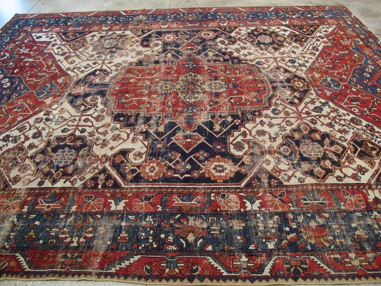 Antique Persian Bakhtiari Rug For Sale 1