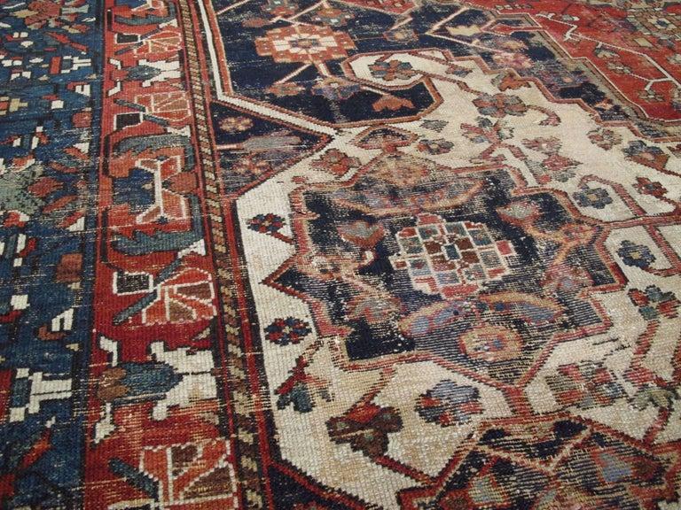 20th Century Antique Persian Bakhtiari Rug For Sale