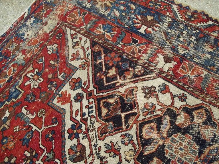 Wool Antique Persian Bakhtiari Rug For Sale
