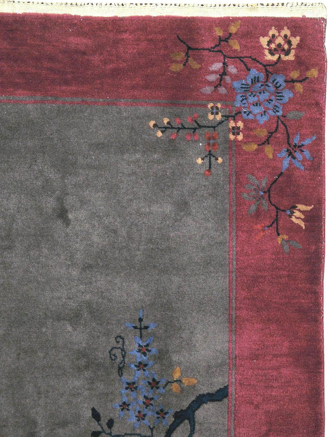 Antique Chinese Art Deco Rug At 1stdibs
