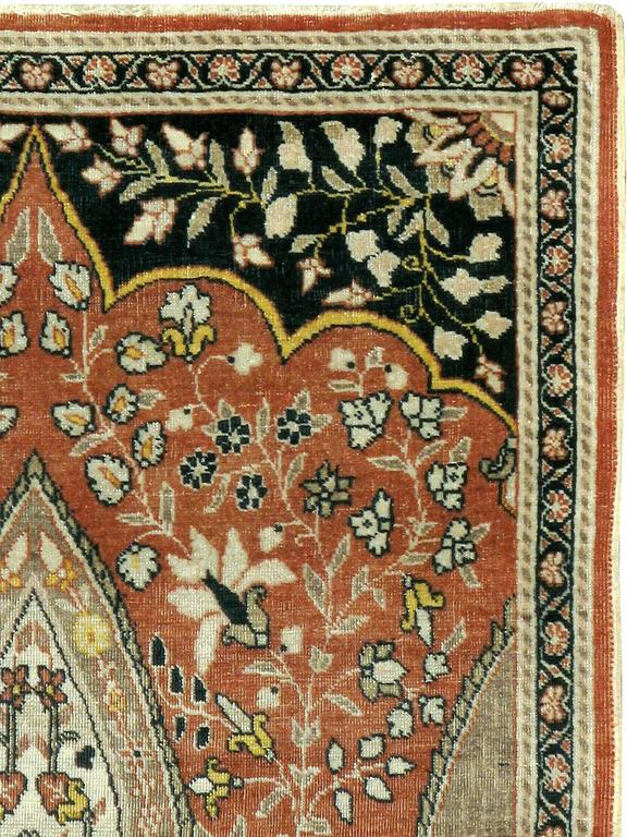 An antique Persian Tabriz Haji Jalili carpet from the first quarter of the 20th century.