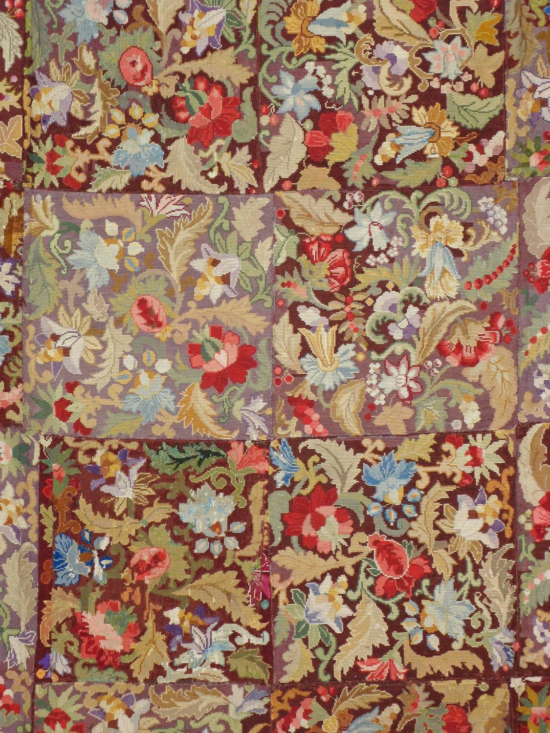 Antique English Needlepoint Rug For Sale At 1stdibs