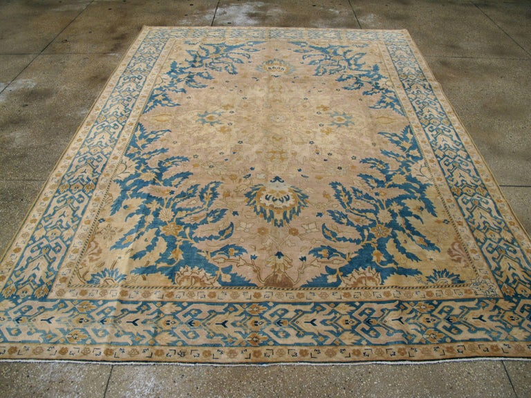 Antique Persian Tabriz Rug In Good Condition For Sale In New York, NY