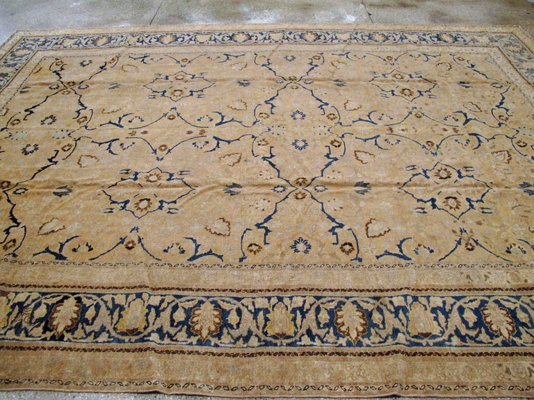 Antique Persian Tabriz Rug For Sale 2