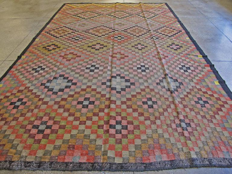 Vintage Persian Kilim Flat-Weave For Sale 1