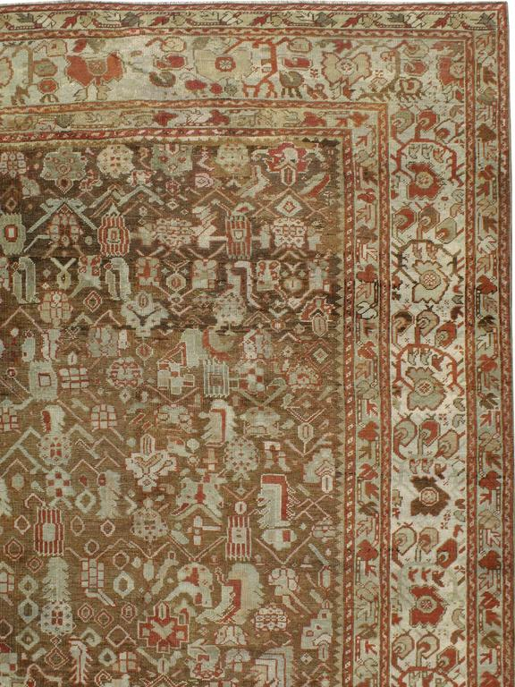 Hand-Knotted Antique Turkish Ghourdes Carpet For Sale