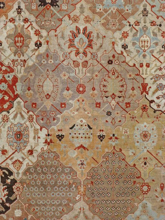 An early 20th century Persian Tabriz. Since the 17th century, Iran started exporting artisan carpets around the world, especially to Europe. Artists used one of the three versions of vertical looms later referred to as a Tabriz Loom. Artists created