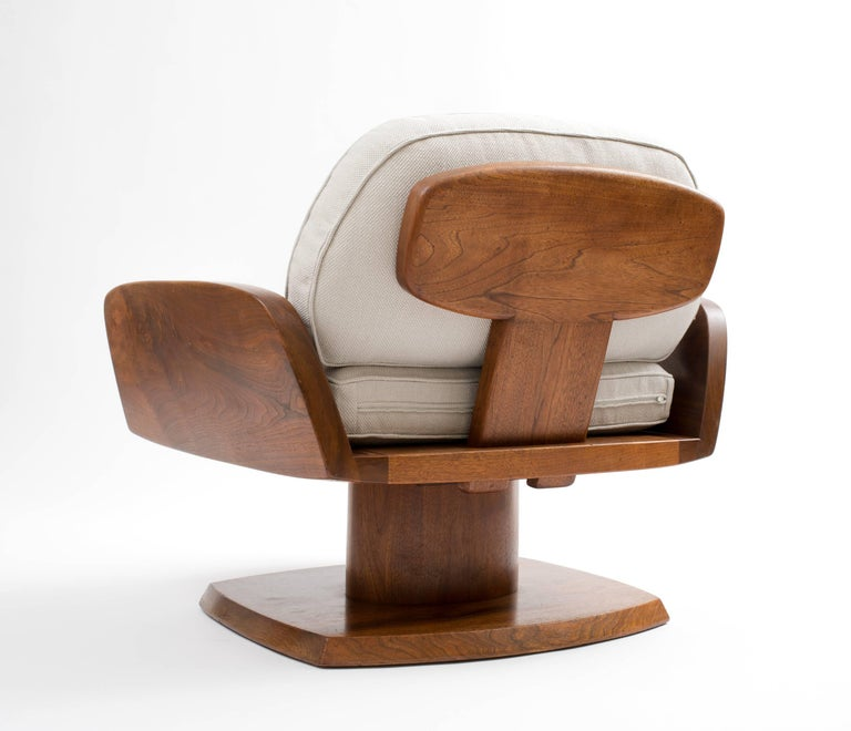 Robert Whitley American Studio Craft Movement Upholstered Lounge Chair, 1968 2