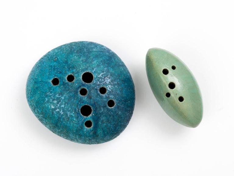 A wonderful pair of glazed earthenware