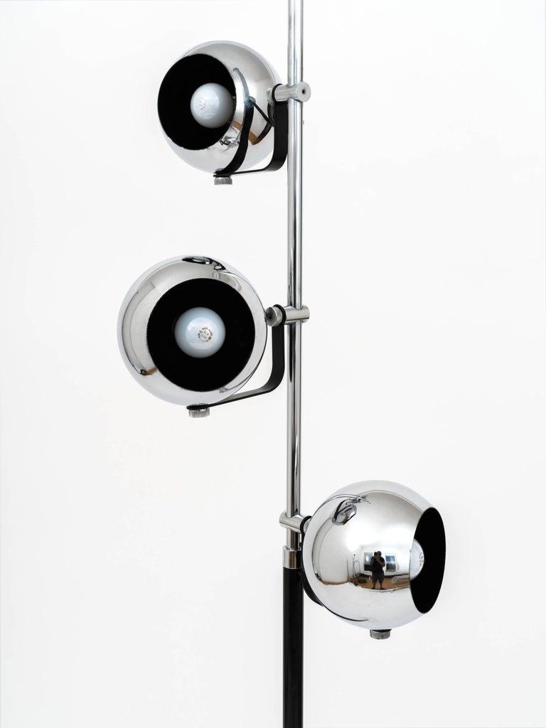 Mid-Century Modern 1960s Italian Triple Light Floor Lamp with Marble Base after Arredoluce For Sale