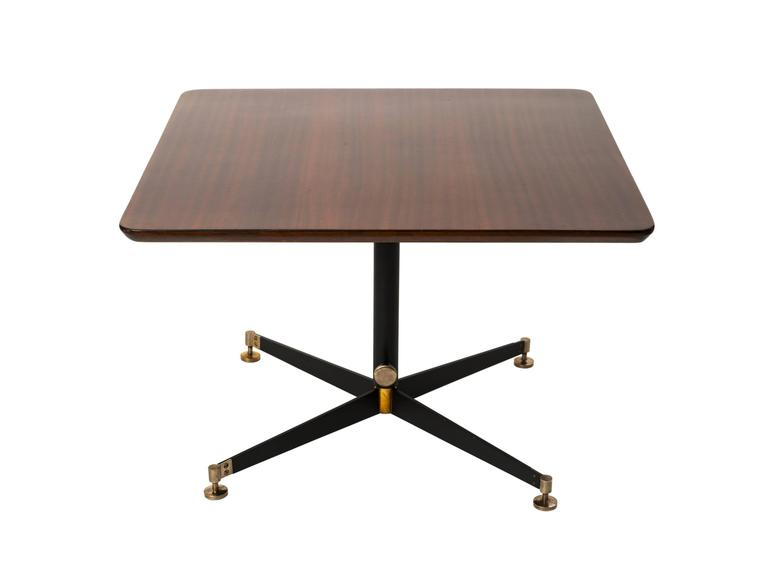 Ignazio Gardella T Adjustable Height Cocktail Or Game Table In - Adjustable height cocktail table