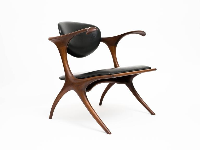 American Craftsman Early and Rare Evert Sodergren 'Sculptured' Chair, circa 1955 For Sale