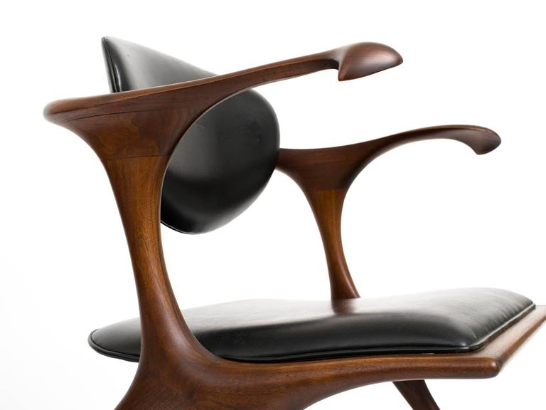 Early and Rare Evert Sodergren 'Sculptured' Chair, circa 1955 For Sale 2