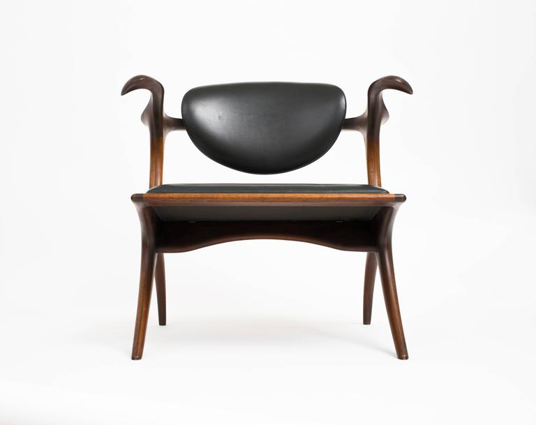 Early and Rare Evert Sodergren 'Sculptured' Chair, circa 1955 For Sale 3