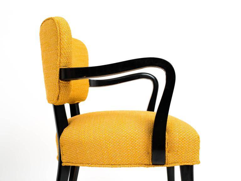 Upholstery Pair of 1960s Modern Armchairs or Side Chairs in the Manner of Gilbert Rohde For Sale