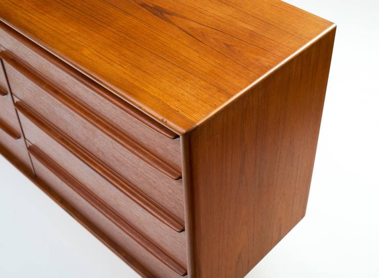 Svend Aage Madsen Eight-Drawer Bureau or Dresser in Teak 5