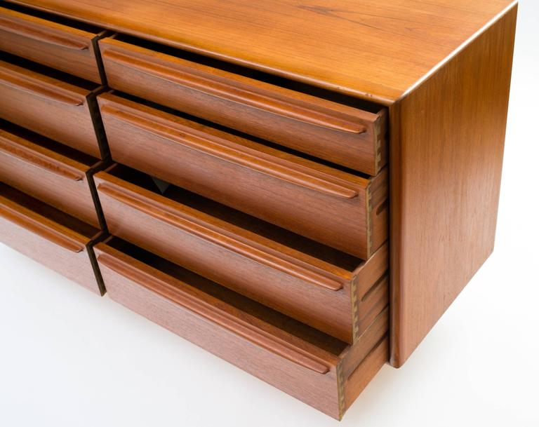 Svend Aage Madsen Eight-Drawer Bureau or Dresser in Teak 8