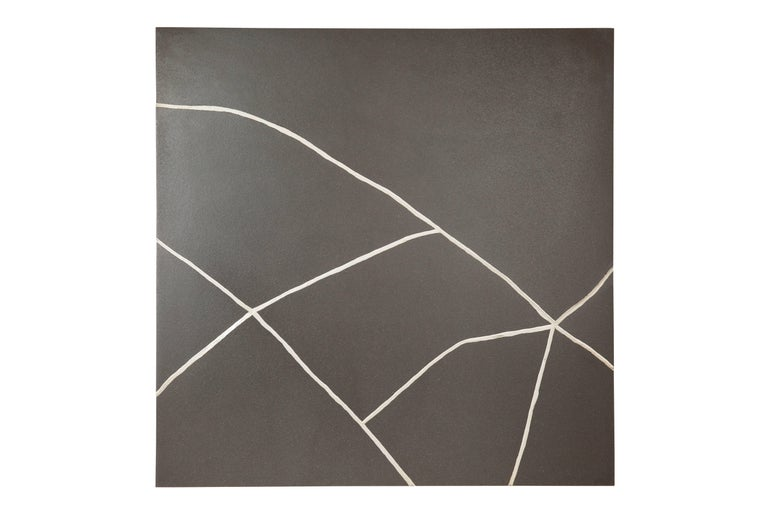 Modern Kintsugi Study Triptych: Ceramic Panels Repaired with Silver by TJ Volonis For Sale