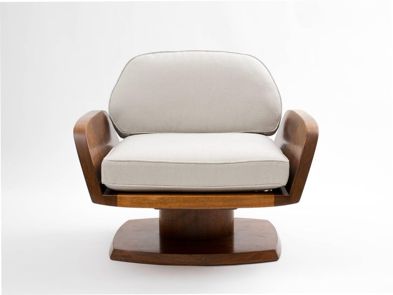 Robert Whitley American Studio Craft Movement Upholstered Lounge Chair, 1968 3