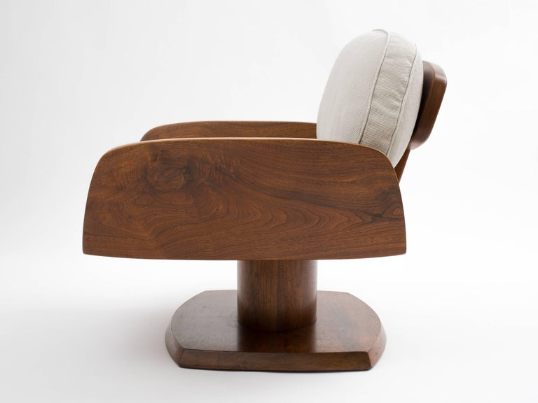 Robert Whitley American Studio Craft Movement Upholstered Lounge Chair, 1968 4