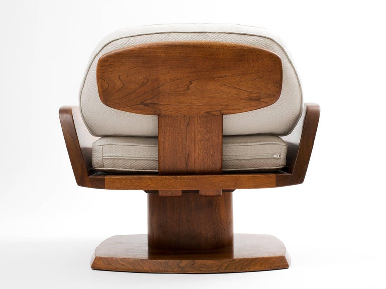 Robert Whitley American Studio Craft Movement Upholstered Lounge Chair, 1968 5