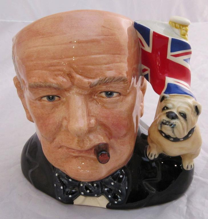 English Winston Churchill Character Jug by Royal Doulton For Sale
