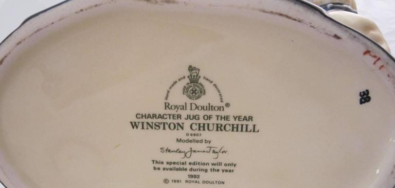 Winston Churchill Character Jug by Royal Doulton For Sale 1