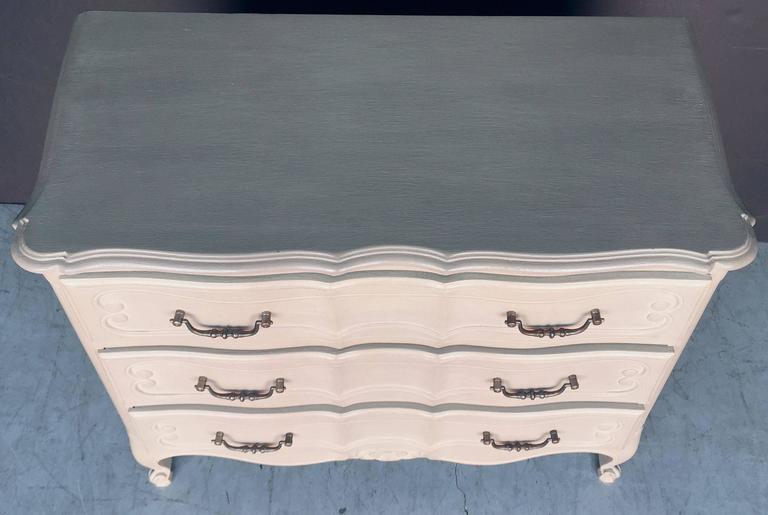 Metal Painted French Chest of Drawers For Sale