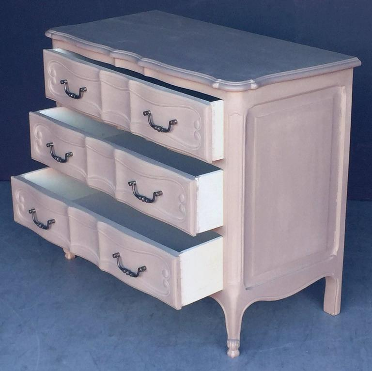 20th Century Painted French Chest of Drawers For Sale