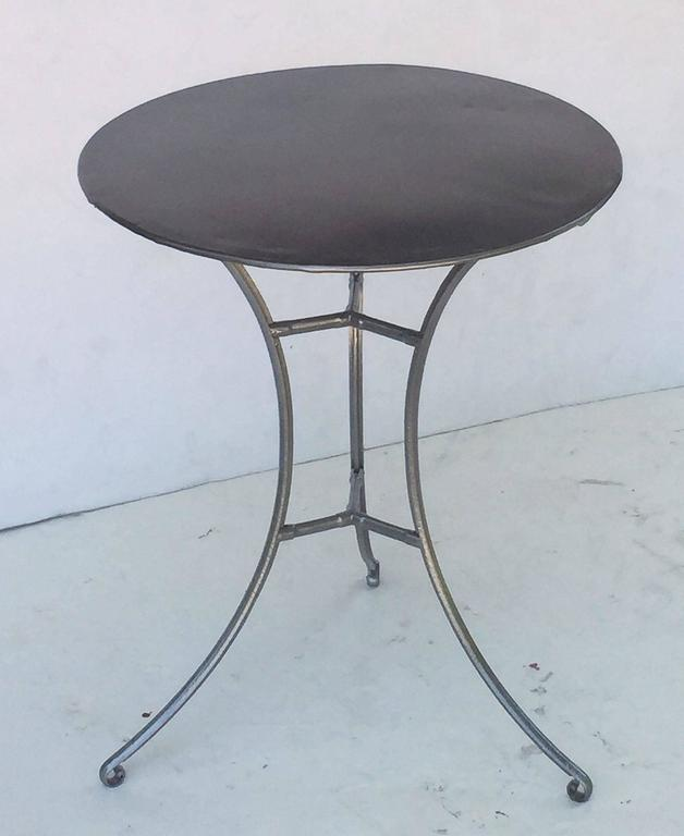 French Round Café Table For Sale At Stdibs - Round metal cafe table
