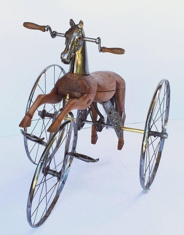 French Velocipede or Child's Horse Tricycle 3
