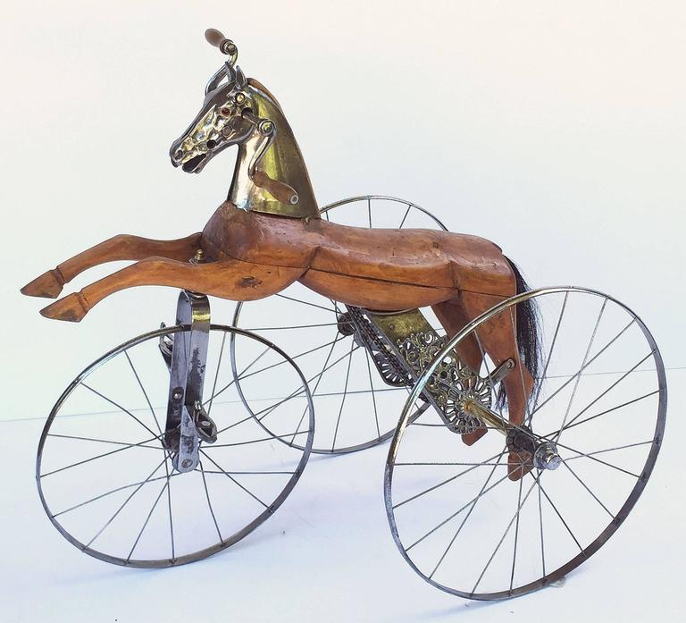 French Velocipede or Child's Horse Tricycle 2