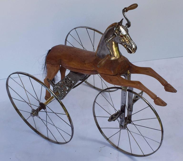 French Velocipede or Child's Horse Tricycle 4
