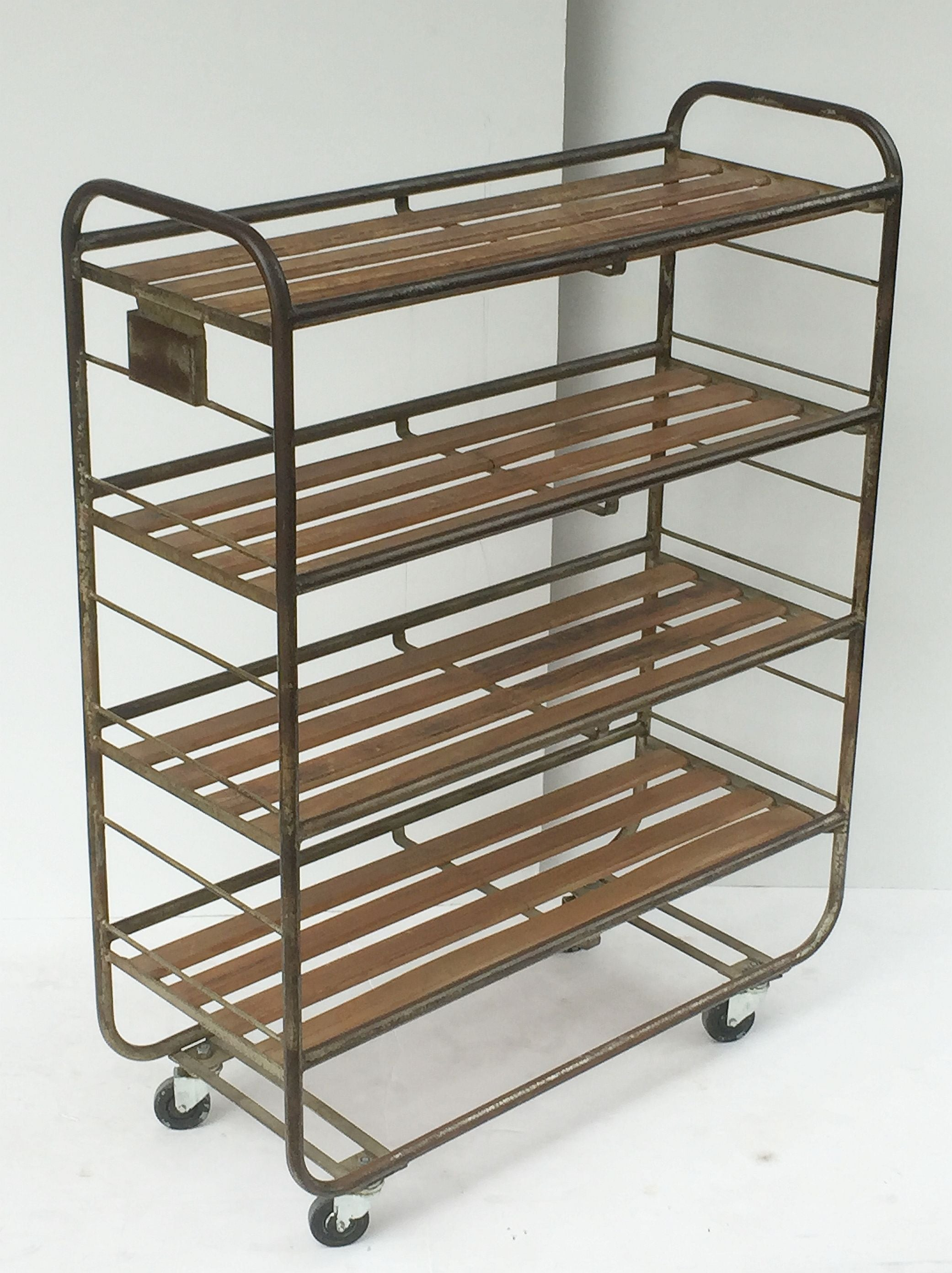 collectibles f one of available sale rolling wood industrial id at steel rack racks and furniture more for french pair org