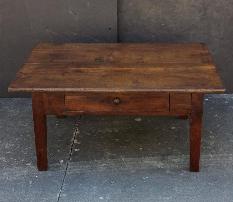 French Style Oak Coffee Table: French Rectangular Low Table Of Oak For Sale At 1stdibs