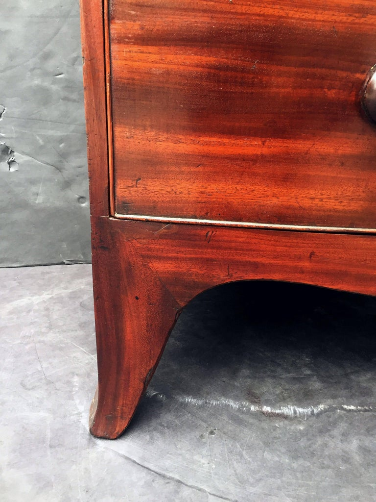 English Bow Front Chest of Mahogany 10